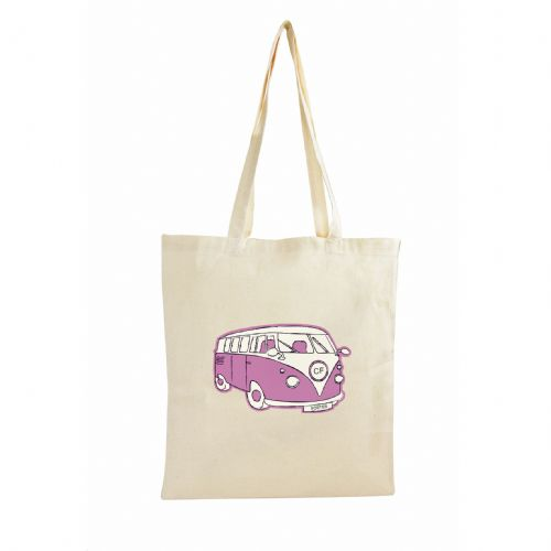 Personalised Pink Campervan Cotton Bag